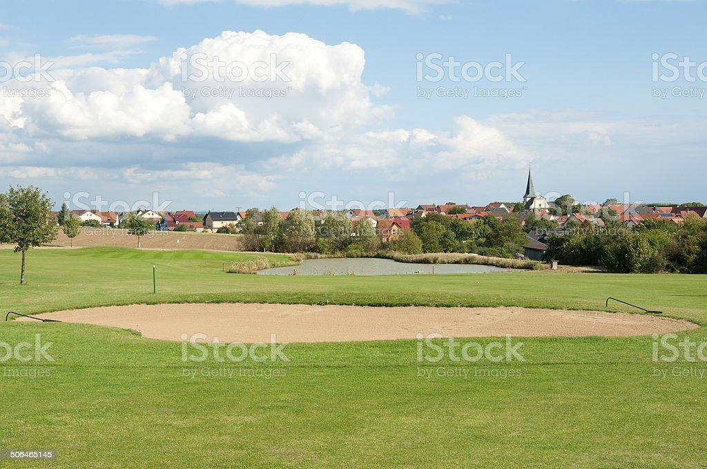 Beautiful Golf Course in Europe royalty-free stock photo