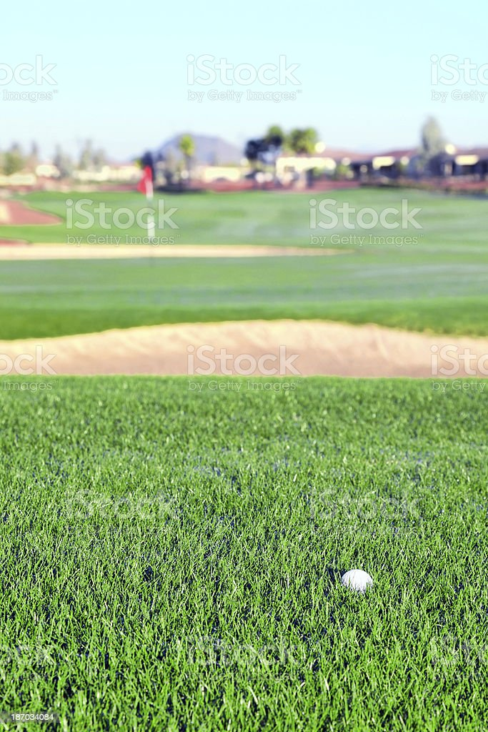 Beautiful golf course royalty-free stock photo