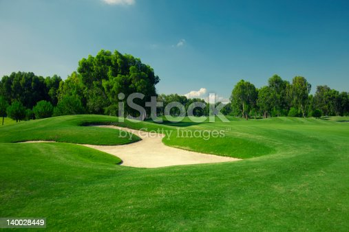 sand traps at a course