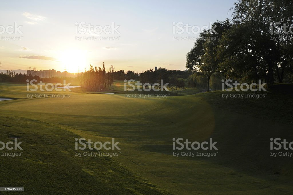 Beautiful Golf Course - XLarge royalty-free stock photo