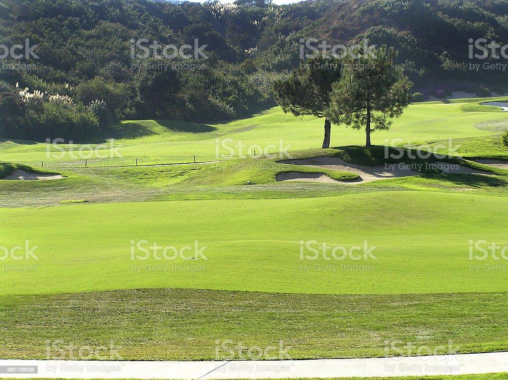 아름다운 골프 전망 royalty-free 스톡 사진