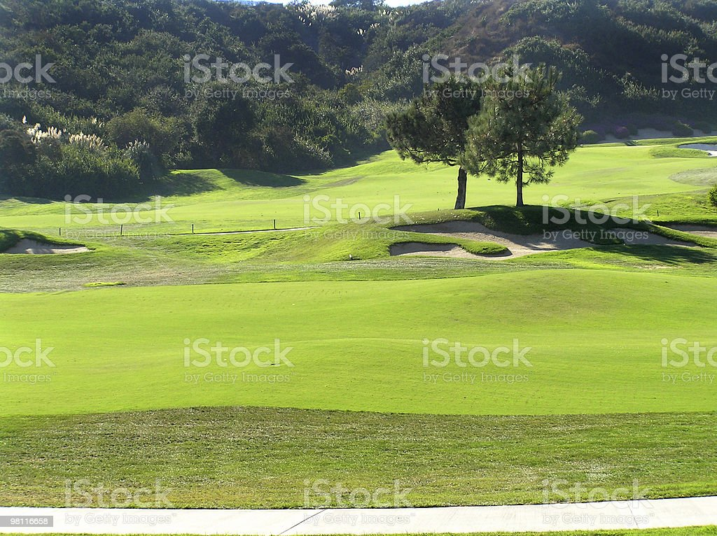 beautiful golf view royalty-free stock photo