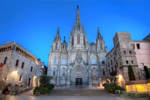 A beautiful gothic cathedral in Barcelona