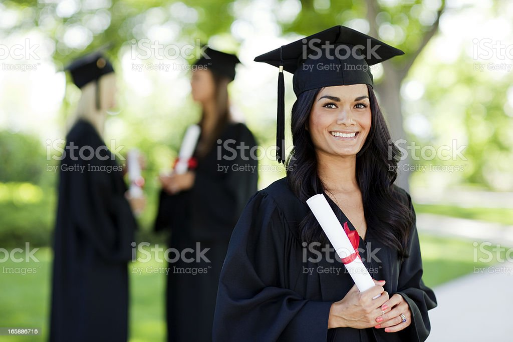 Beautiful Graduate royalty-free stock photo