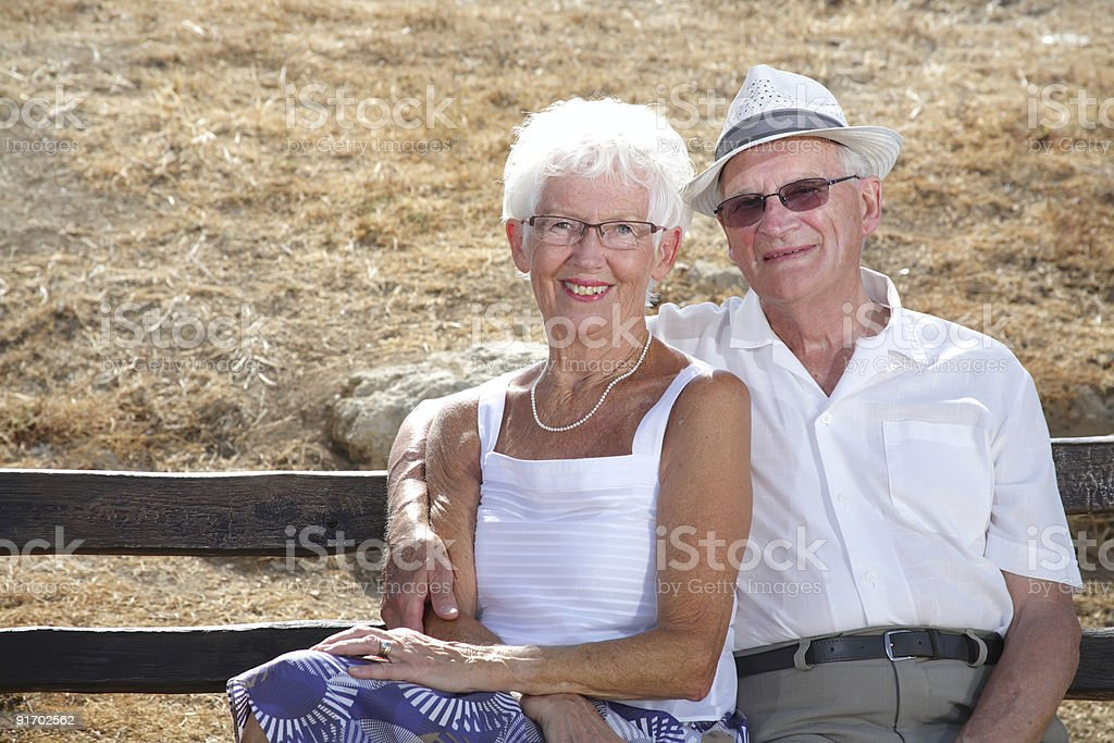 beautiful grandparents royalty-free stock photo