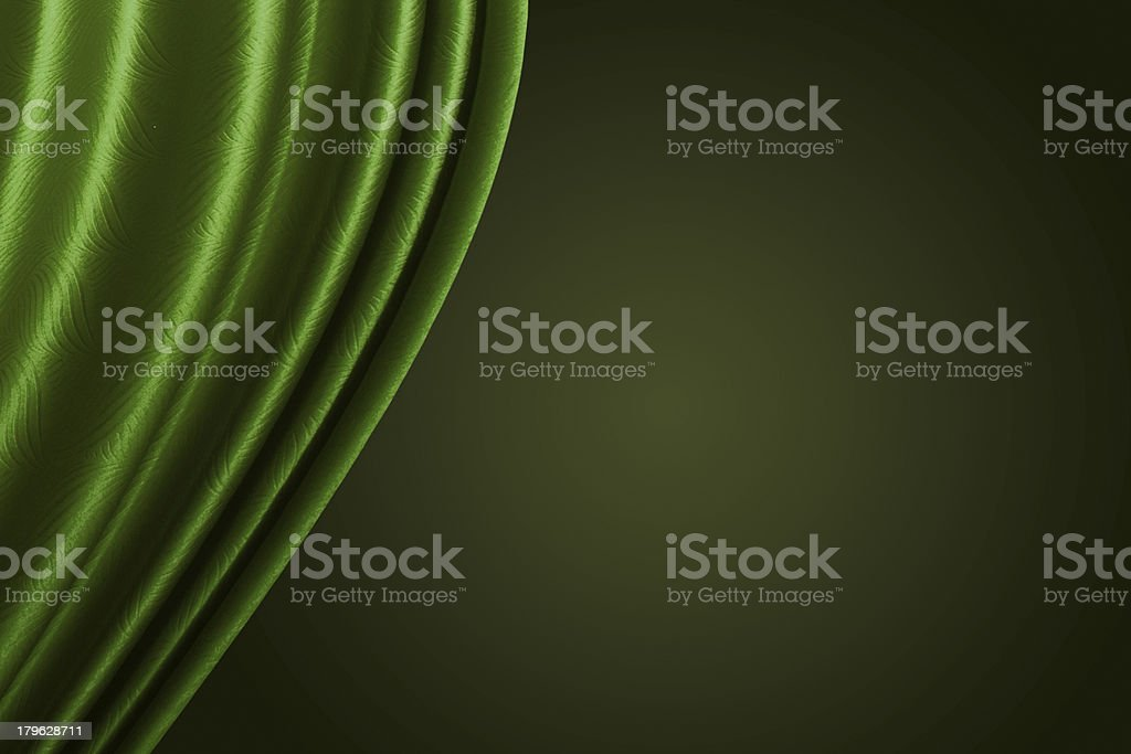 Beautiful Green curtain background. royalty-free stock photo