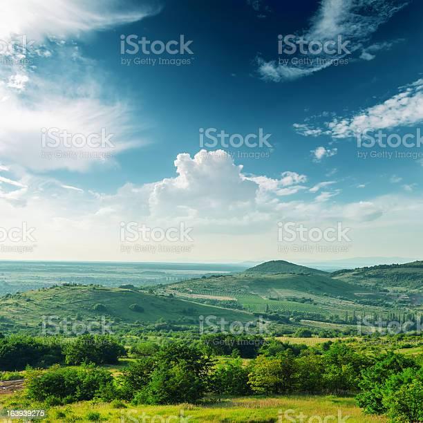 Photo of beautiful green mountain landscape in Carpathians