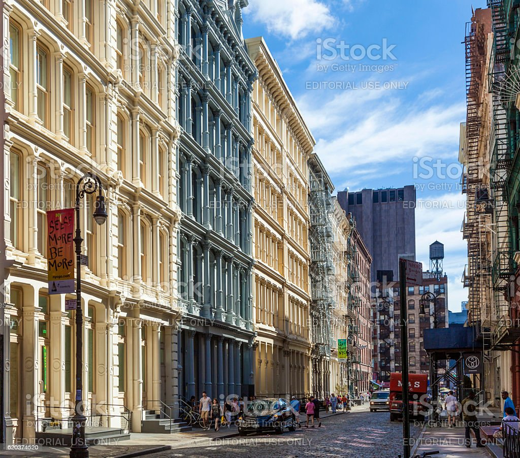 beautiful Green Street foto de stock royalty-free