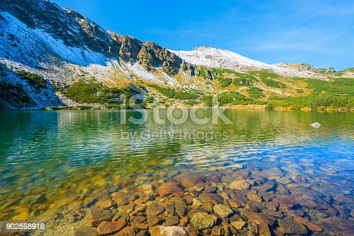 870409146 istock photo Beautiful green water mountain lake in Gasienicowa valley, High Tatra Mountains, Poland 902568916