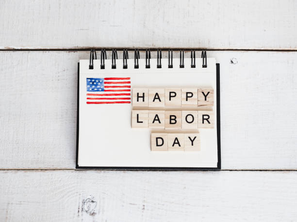 beautiful greeting card on labor day - labor day stock pictures, royalty-free photos & images