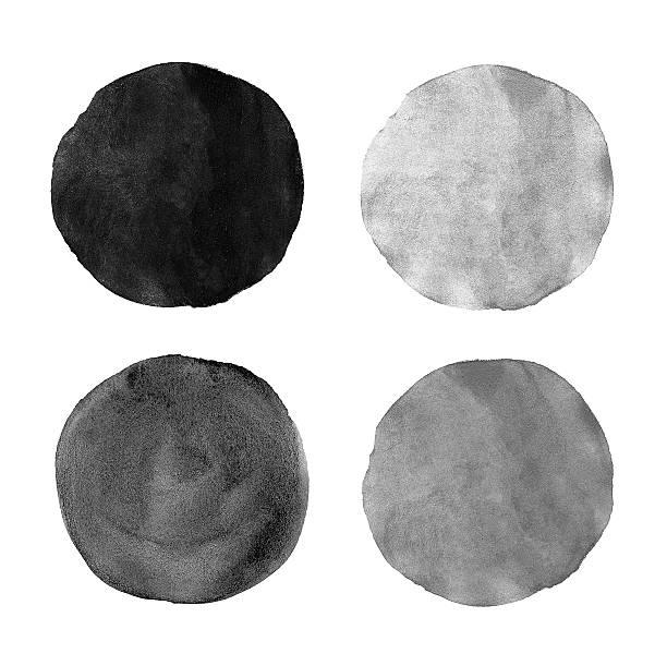schöne grau aquarell design-elemente - grauflecken stock-fotos und bilder
