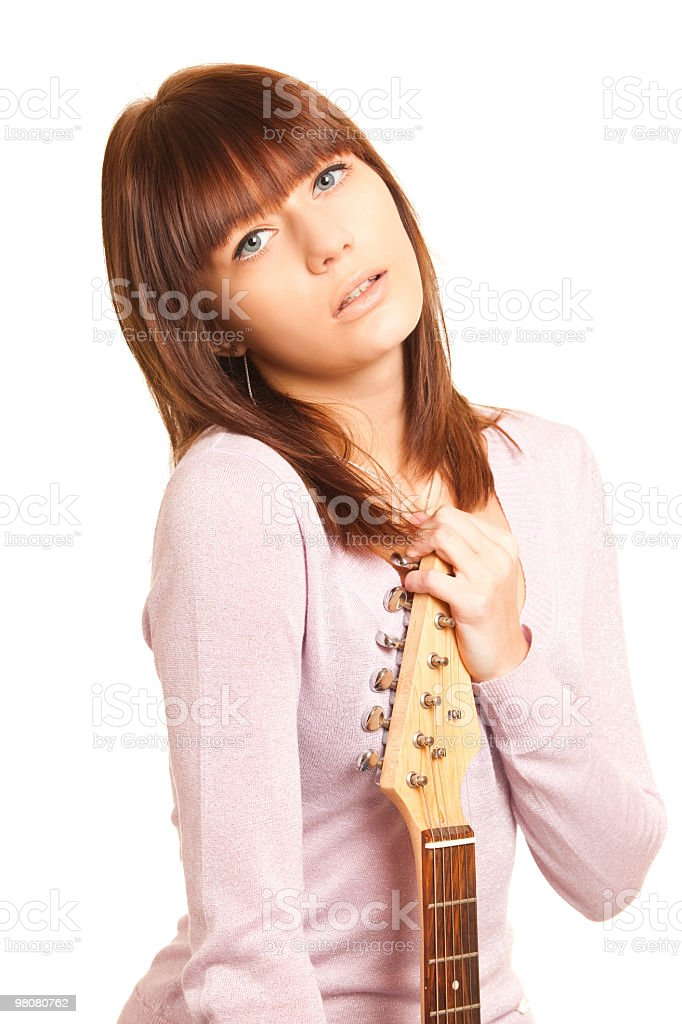 beautiful guitarist royalty-free stock photo