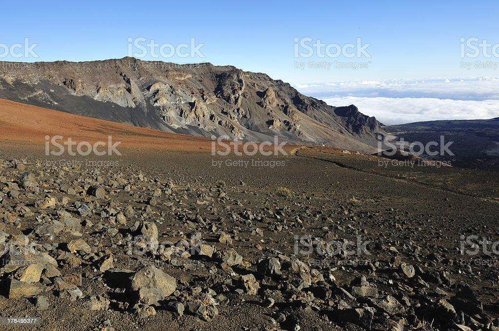 Beautiful Haleakala Crater on Maui royalty-free stock photo