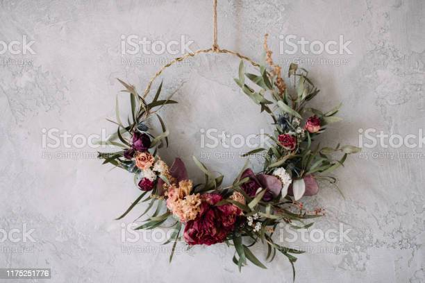 Beautiful hand made everlasting dry wreath made of roses hydrangea picture id1175251776?b=1&k=6&m=1175251776&s=612x612&h=4ltkp7lts4lnchc 9nu egu1notvjxwiizhphkvsb7c=