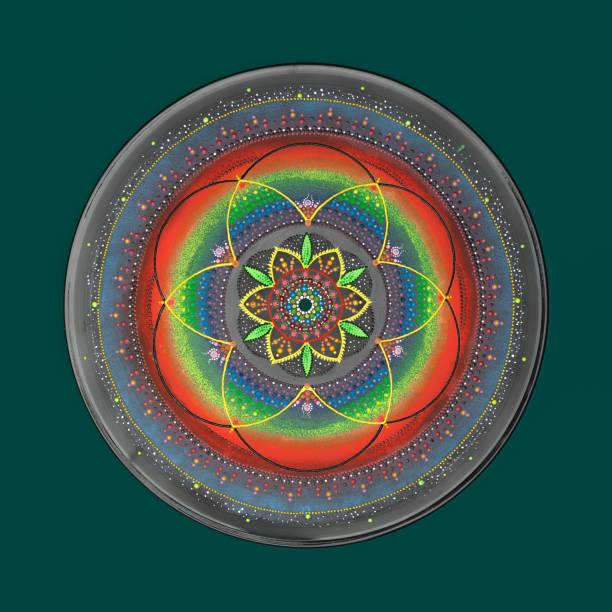 Beautiful hand painted mandala stock photo