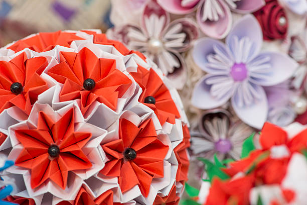 Royalty free rainbow colored origami flower ball pictures images beautiful handmade flowers paper flowers stock photo mightylinksfo