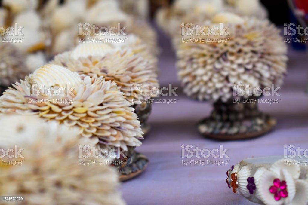 Beautiful handmade showpieces stock photo