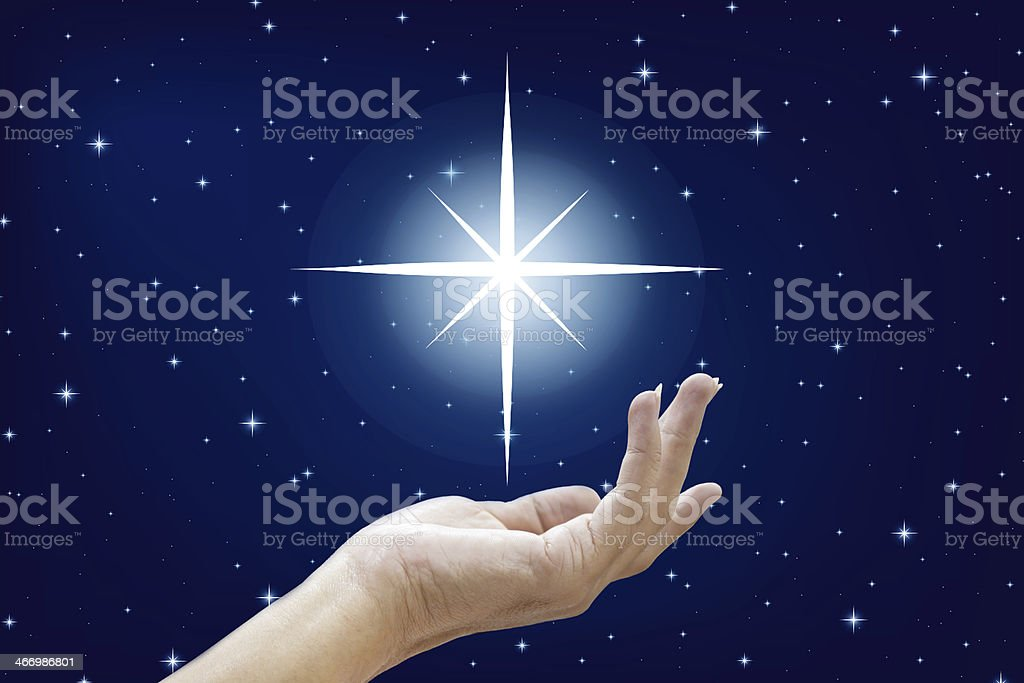 Beautiful hands and the stars royalty-free stock photo