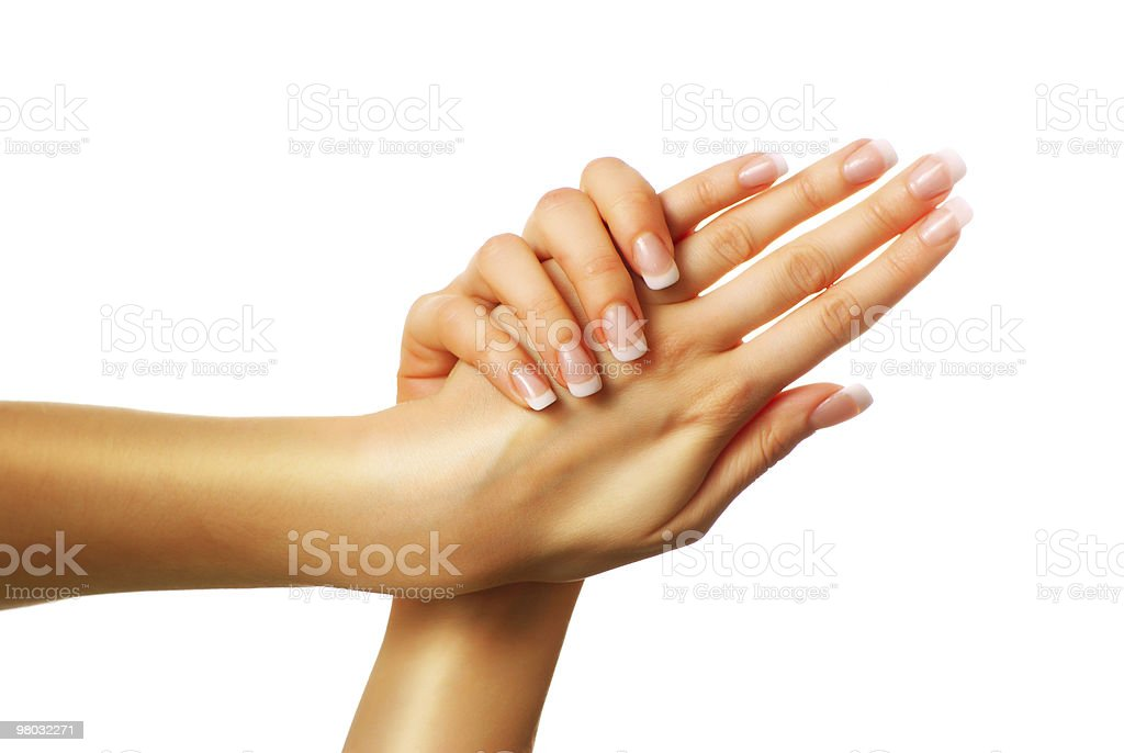 Beautiful hands royalty-free stock photo