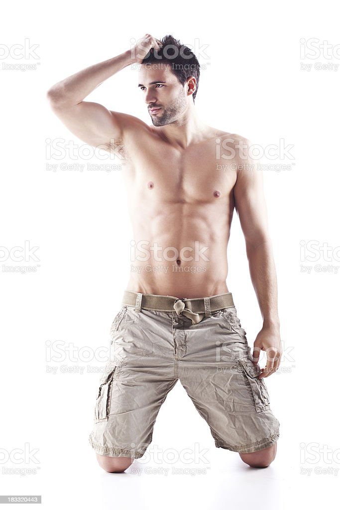 Beautiful handsome male royalty-free stock photo