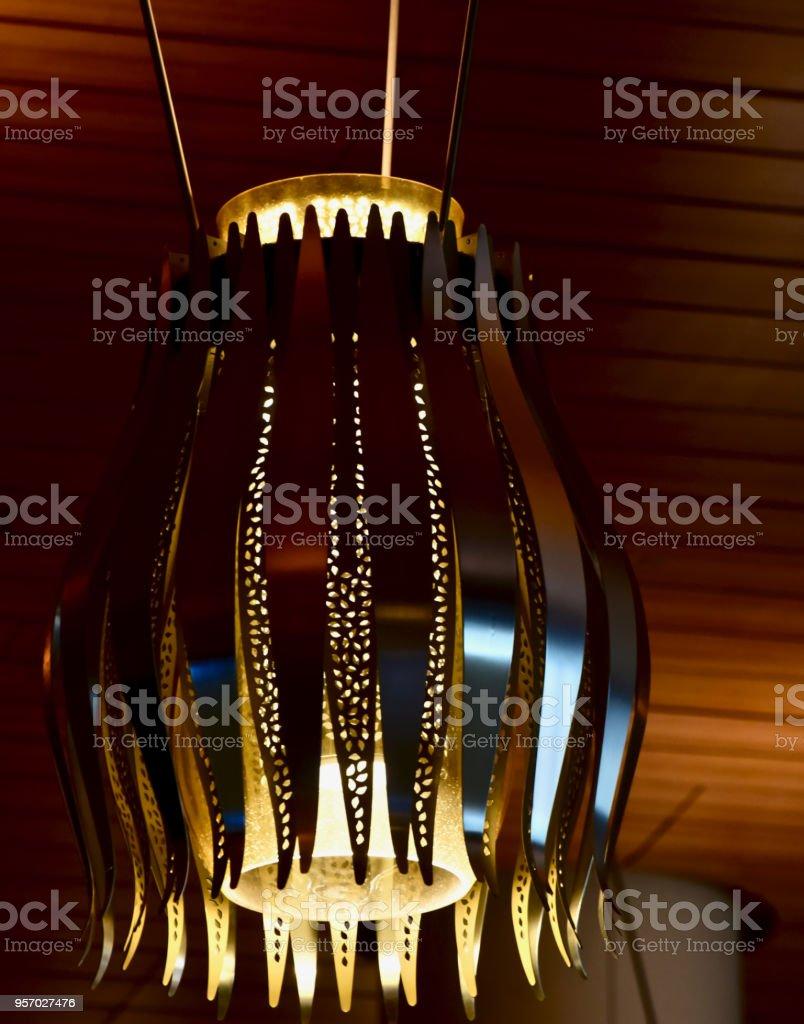 Beautiful hanging interior lights unique photo stock photo