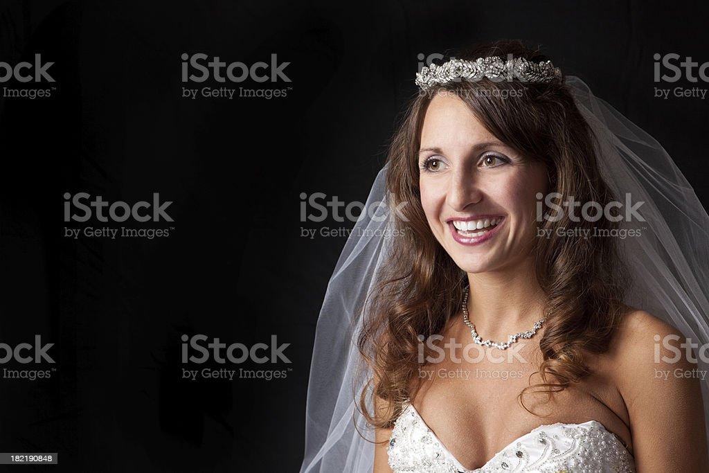Beautiful Happy Bride royalty-free stock photo