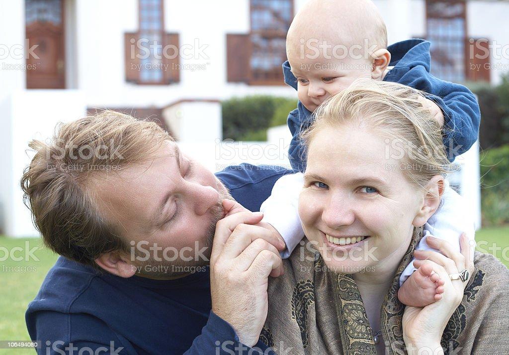 Beautiful happy family royalty-free stock photo