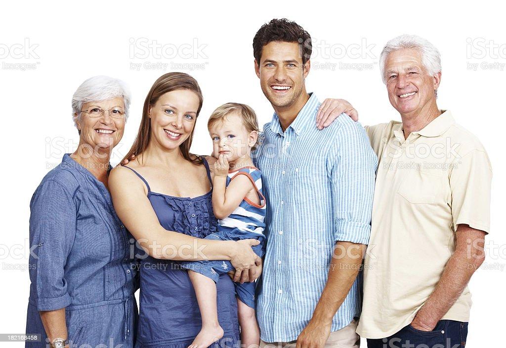 Beautiful, happy family portrait royalty-free stock photo