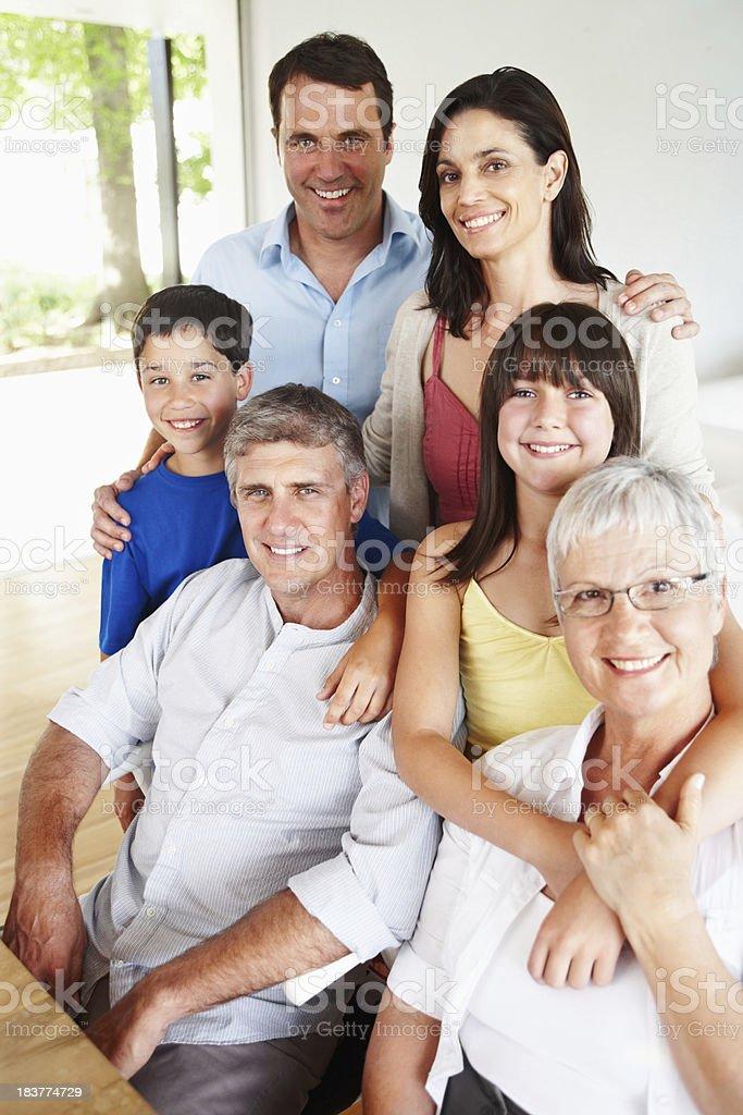 Beautiful happy family portrait royalty-free stock photo