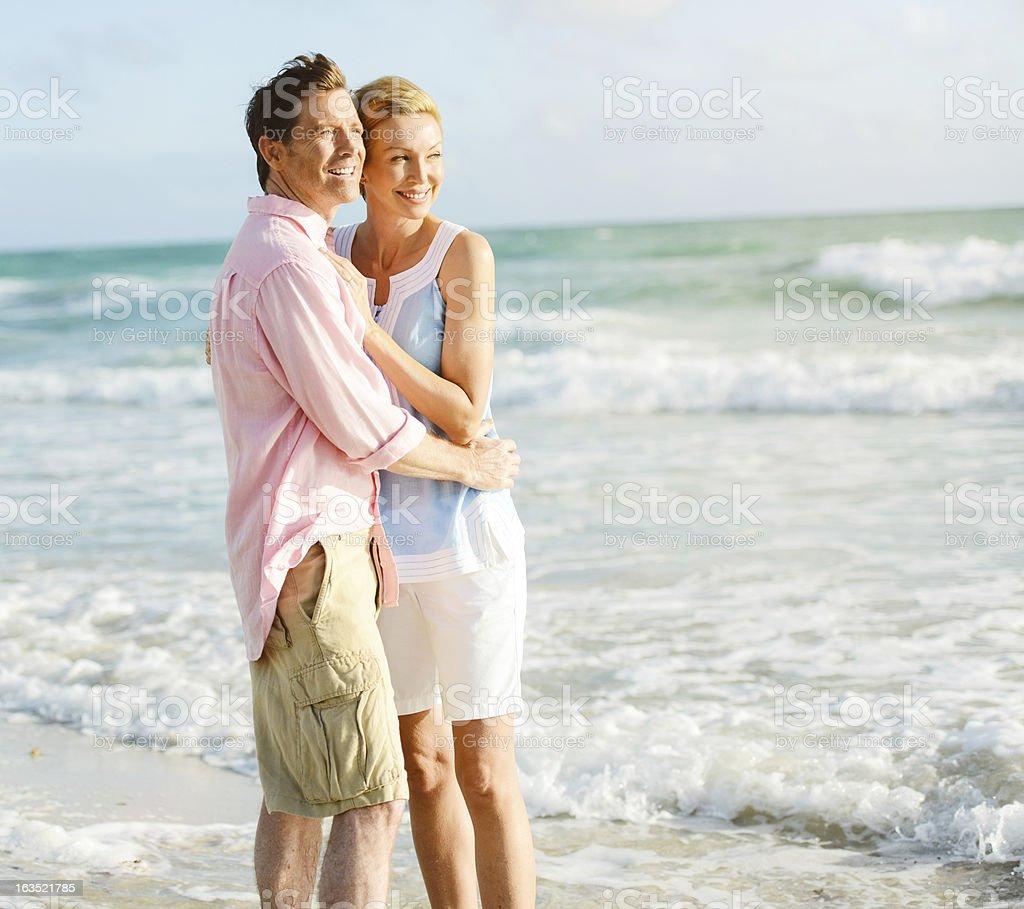Beautiful Happy Mature Couple Enjoying Vacations royalty-free stock photo