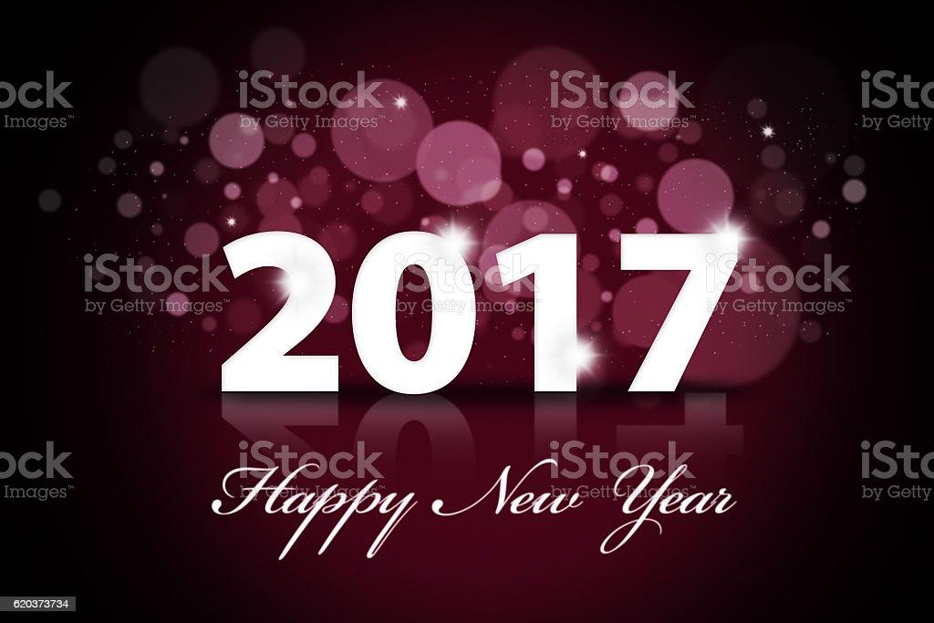 Beautiful Happy New Year 2017 illustration foto de stock royalty-free