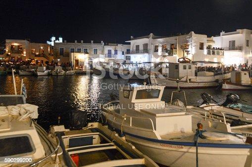 Beautiful Harbor Of Naoussa Paros Island Greece-foton och fler bilder på Arkitektur