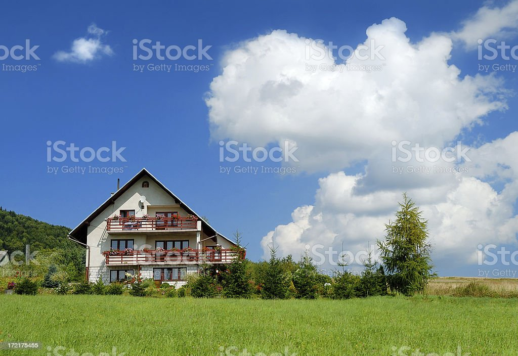 Beautiful hause with small garden royalty-free stock photo