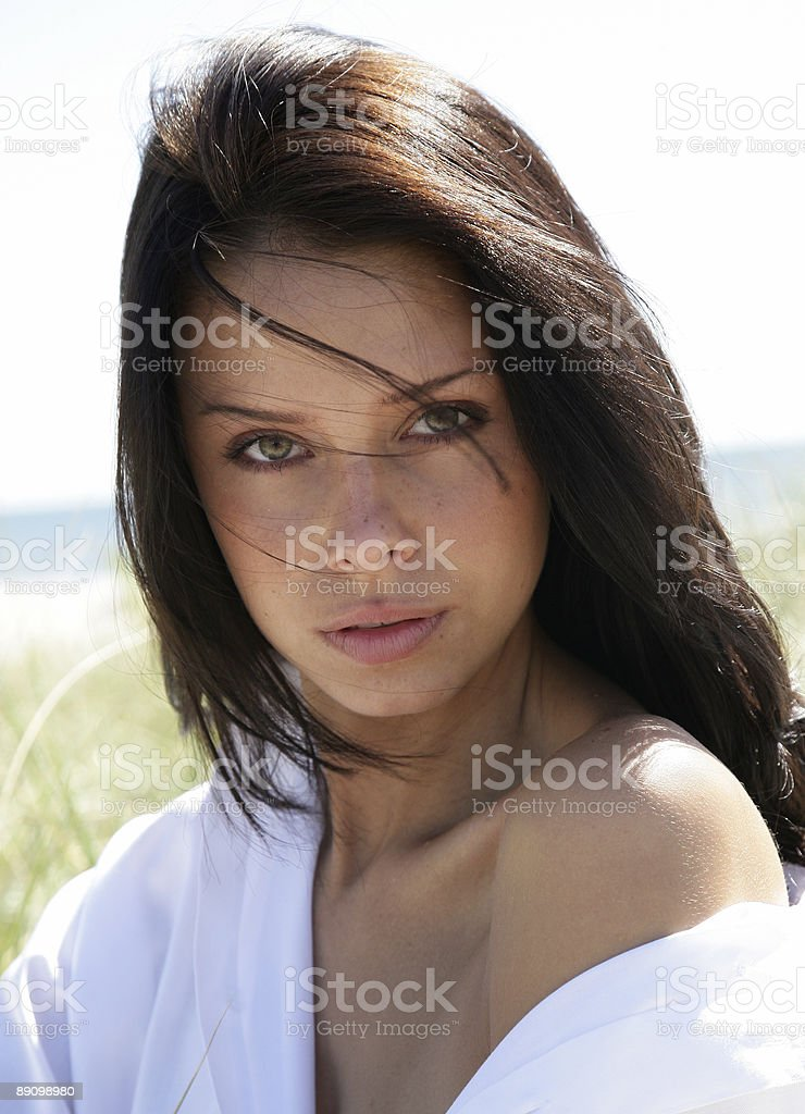 Beautiful headshot royalty-free stock photo