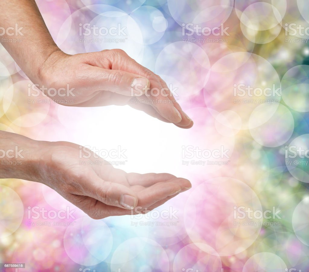Beautiful Healing Energy stock photo