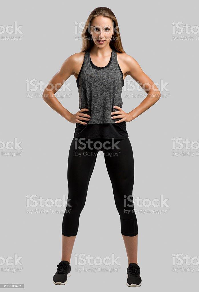 Schöne gesunde fitness Frau – Foto