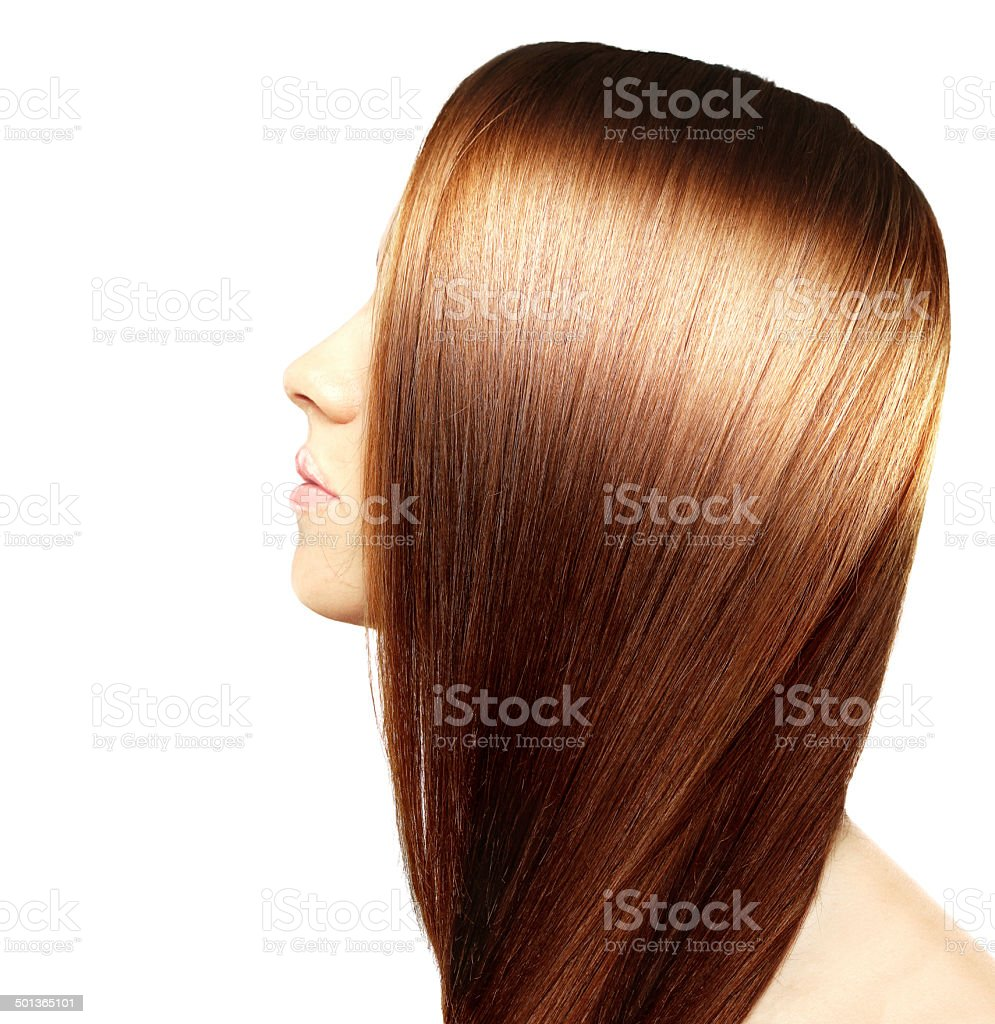Beautiful healthy hair stock photo