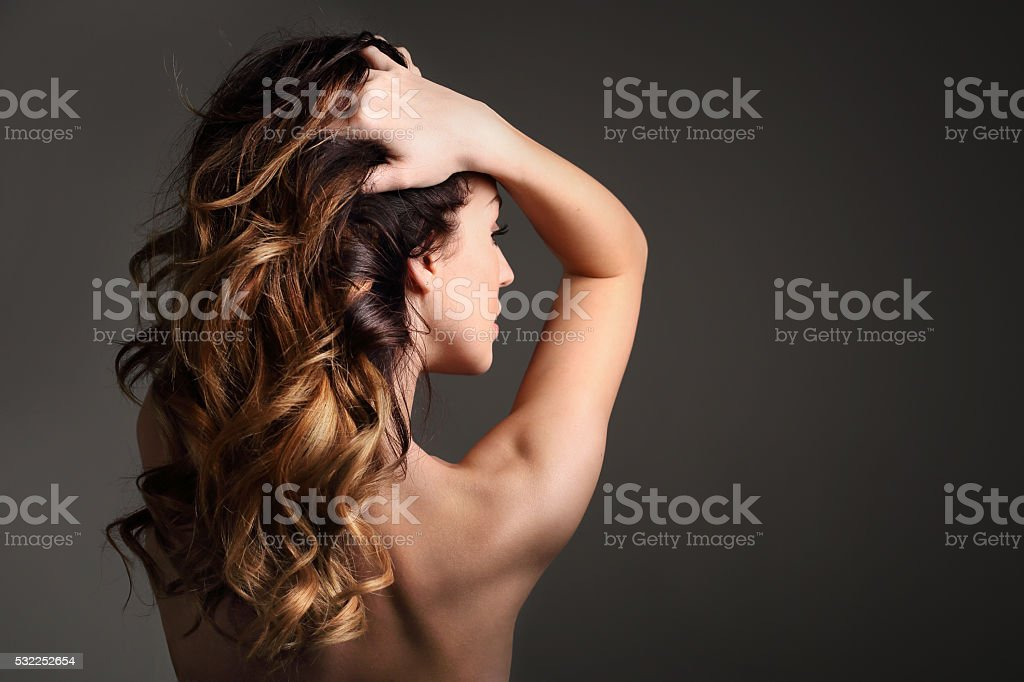 Beautiful healthy hair. stock photo