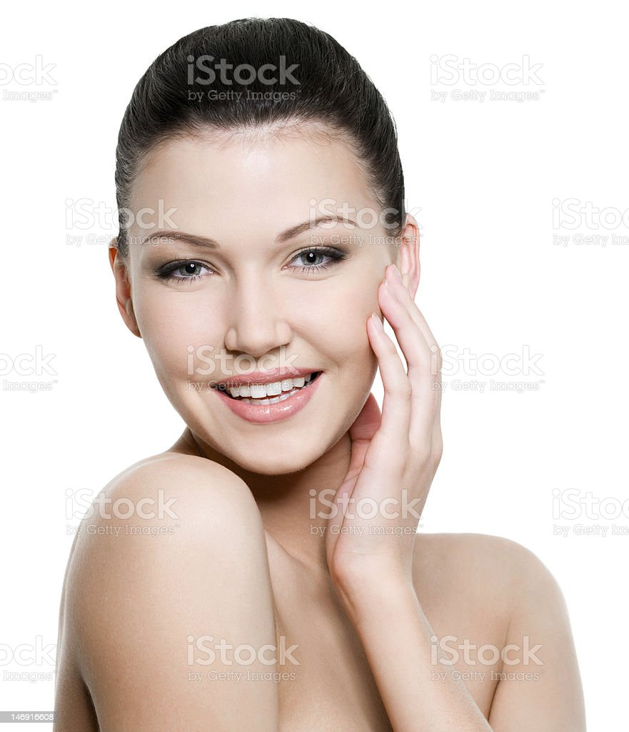 Beautiful healthy woman's face royalty-free stock photo