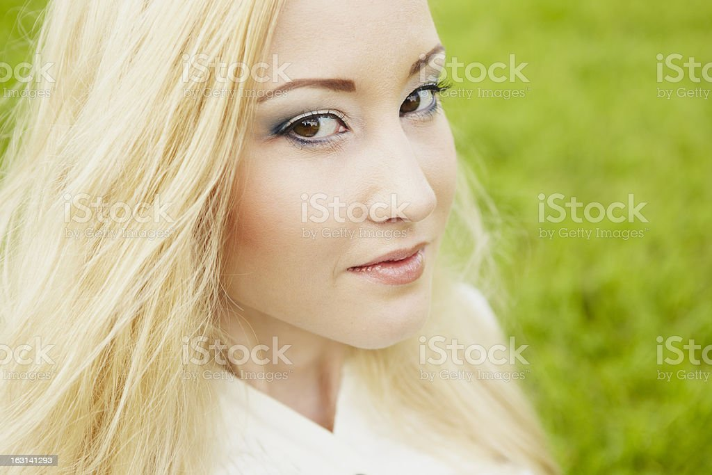 Beautiful healthy Young Woman royalty-free stock photo