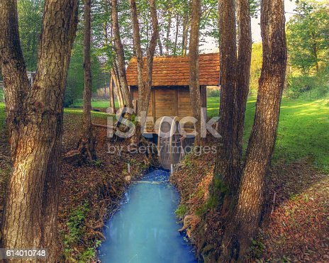 Beautiful Hidden Cottage In The Woods With Small Stream Stock Photo More Pictures Of 2016