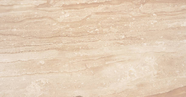 Beautiful high detailed natural beige marble with abstract pattern. stock photo