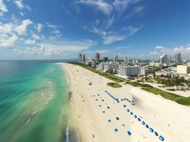 Beautiful high res aerial photo Miami Beach FL USA