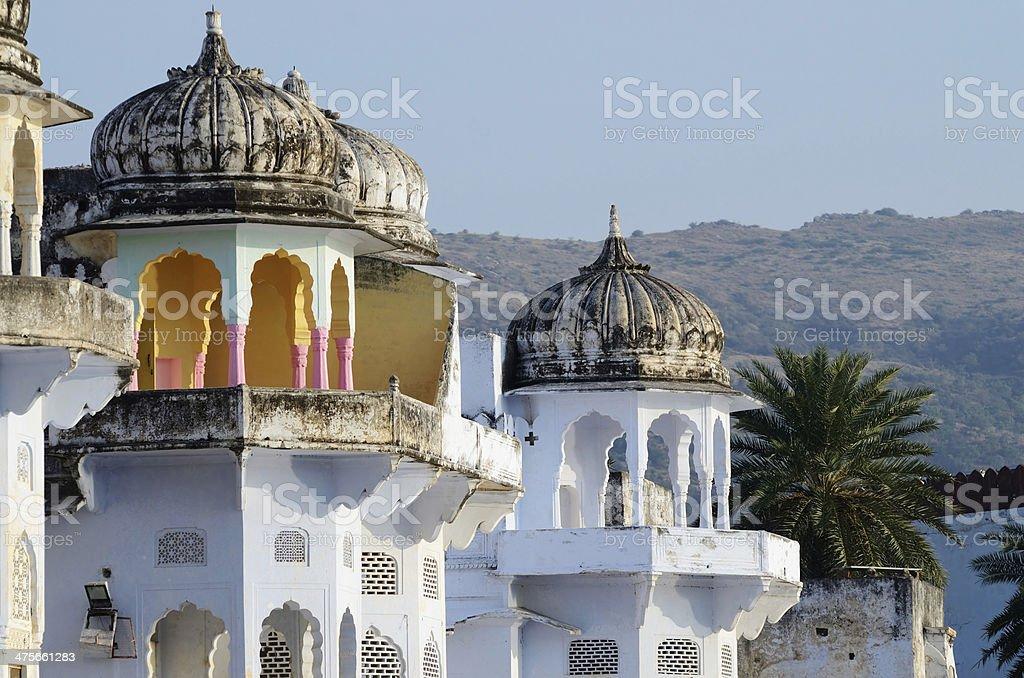 Beautiful hindu architecture of Pushkar,Rajasthan,India stock photo