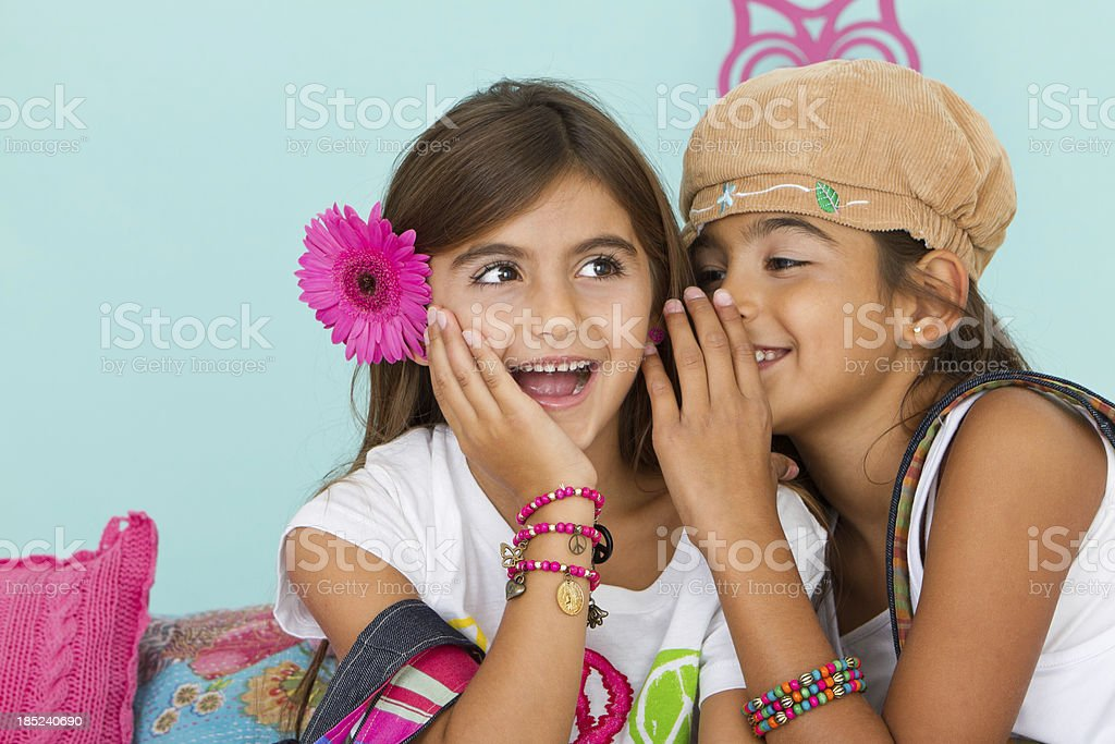Beautiful hippie friends royalty-free stock photo