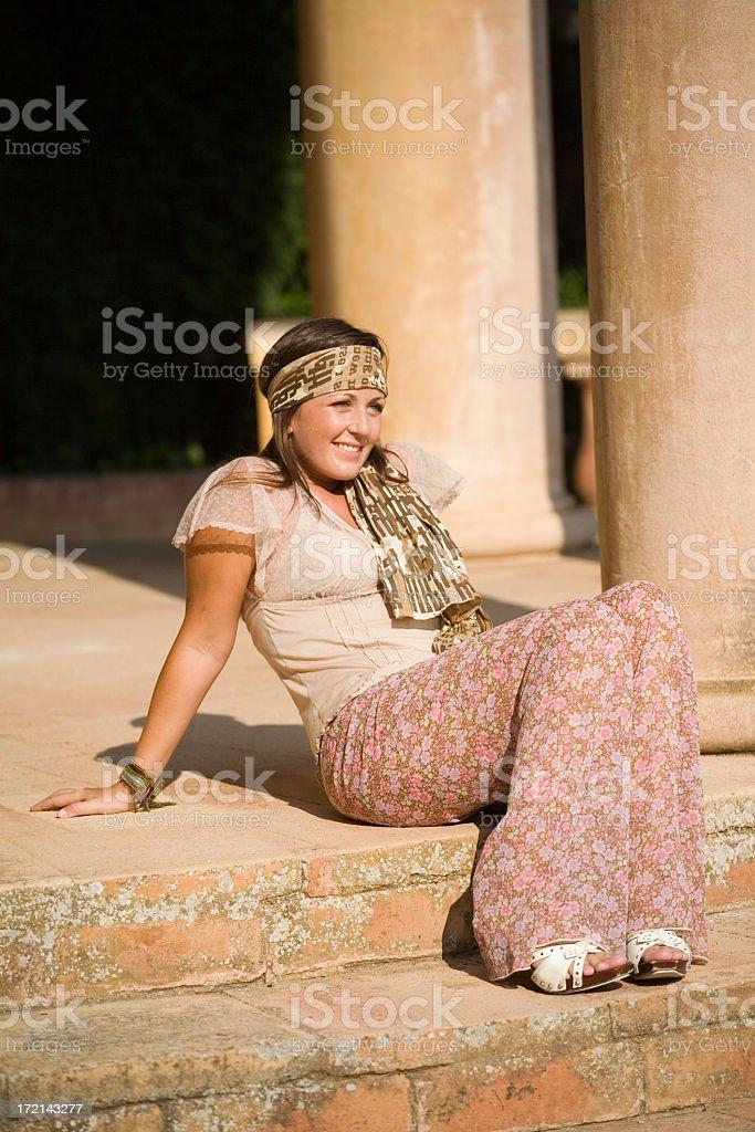beautiful hippie girl royalty-free stock photo