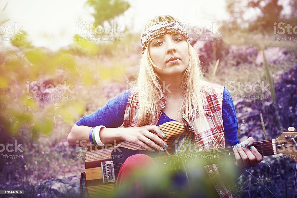 Beautiful Hippie royalty-free stock photo