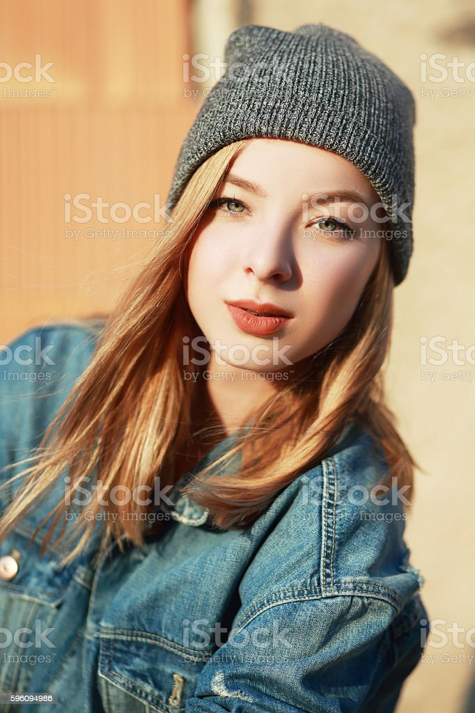 beautiful hipster girl royalty-free stock photo