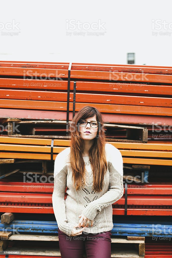 Beautiful Hipster Woman royalty-free stock photo