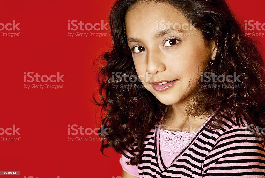 beautiful hispanic child royalty-free stock photo